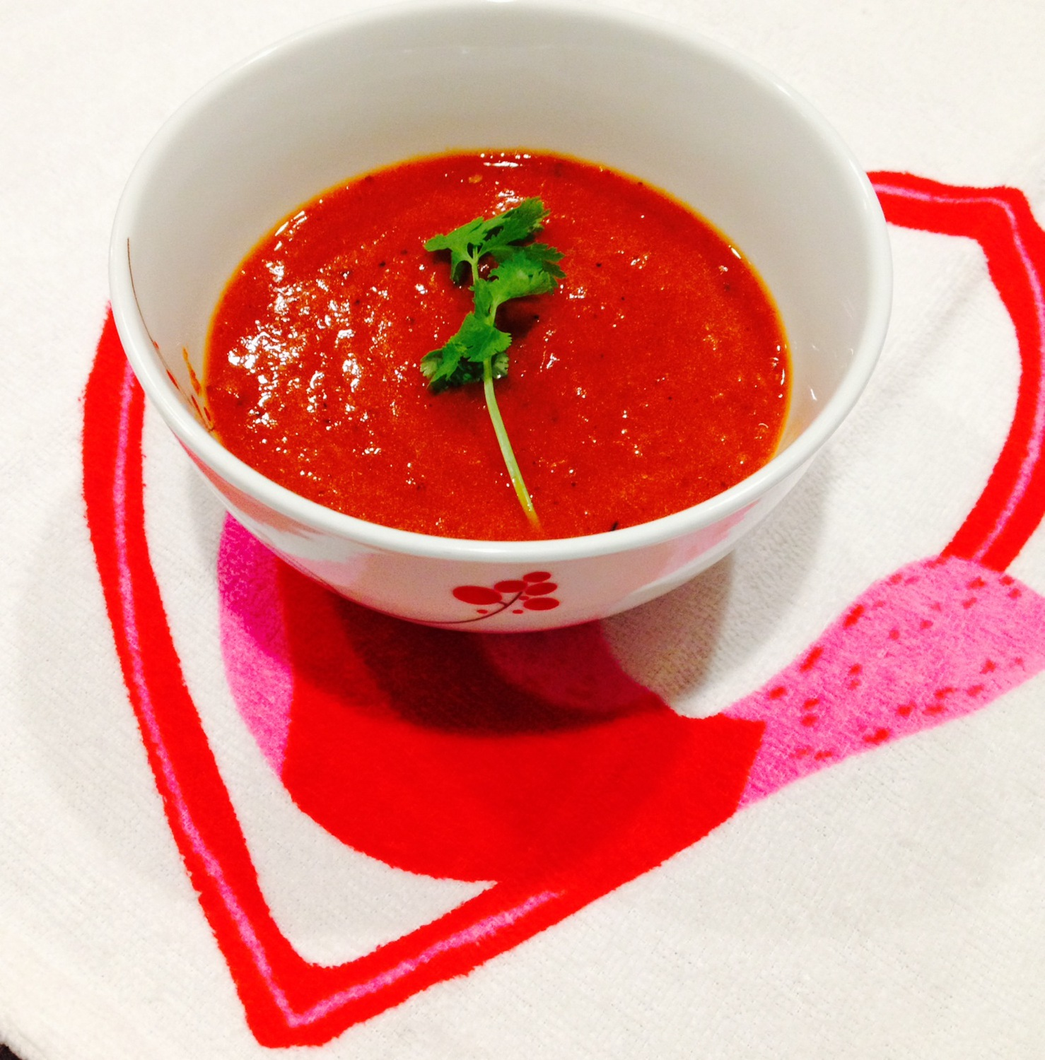 Recipe for Roasted Red Pepper and Roasted Tomato Soup: Slow Cooker (Crock-Pot)