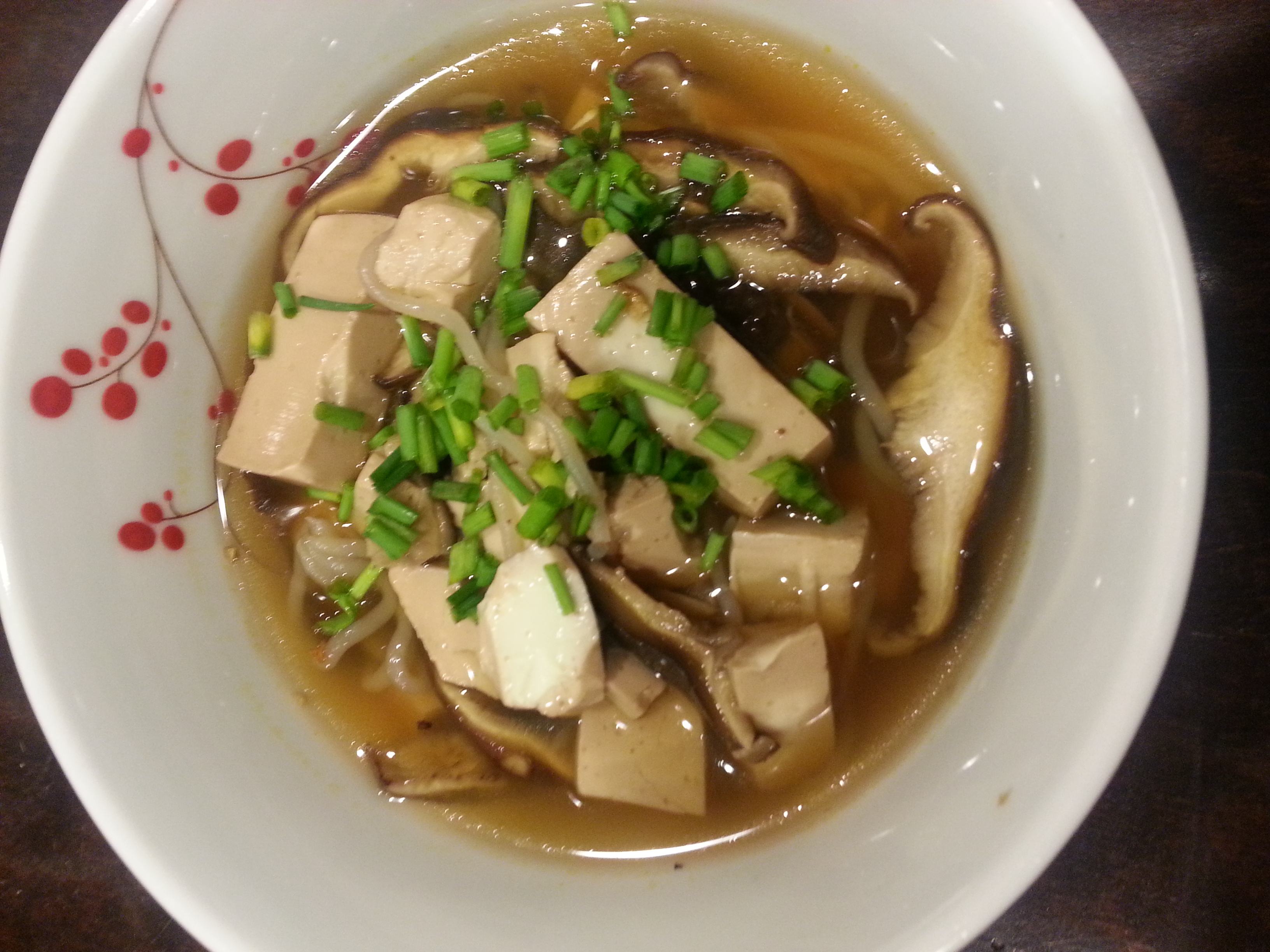 Recipe for Tofu and Mushroom Soup: Slow Cooker (Crock-Pot)